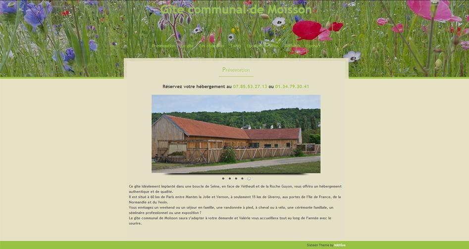 visitez le site du gîte communal de Moisson